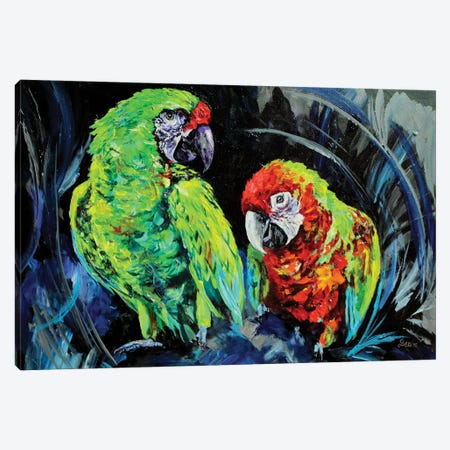 Caws Canvas Print #DAL13} by Lindsey Dahl Art Print