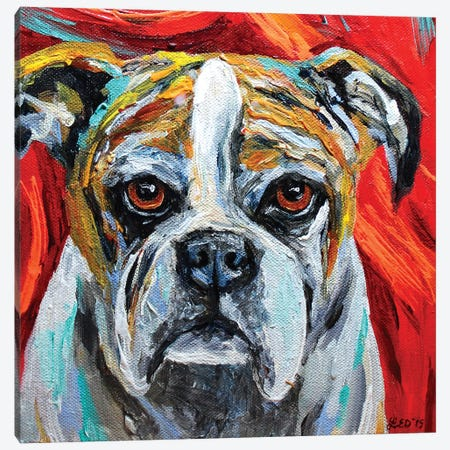 Winston Canvas Print #DAL143} by Lindsey Dahl Canvas Wall Art