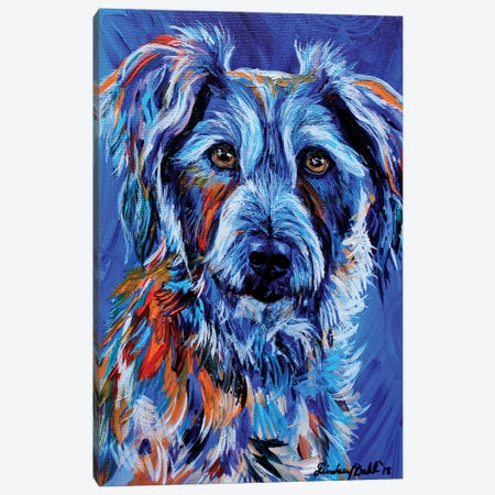 Wolf (The Dog) Canvas Print #DAL144} by Lindsey Dahl Art Print
