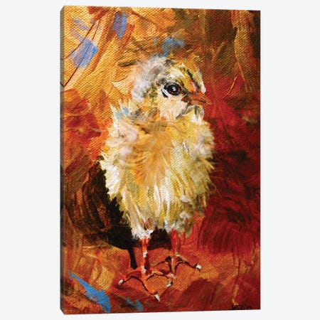 Chick Canvas Print #DAL14} by Lindsey Dahl Canvas Artwork