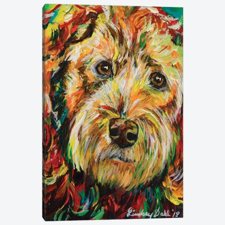 Goldendoodle Canvas Print #DAL154} by Lindsey Dahl Canvas Wall Art