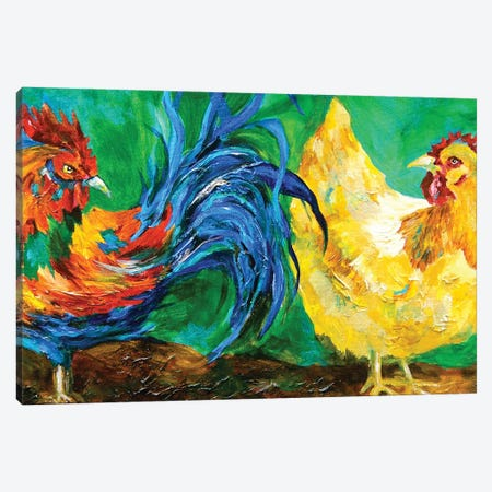 Chickens Canvas Print #DAL15} by Lindsey Dahl Canvas Wall Art