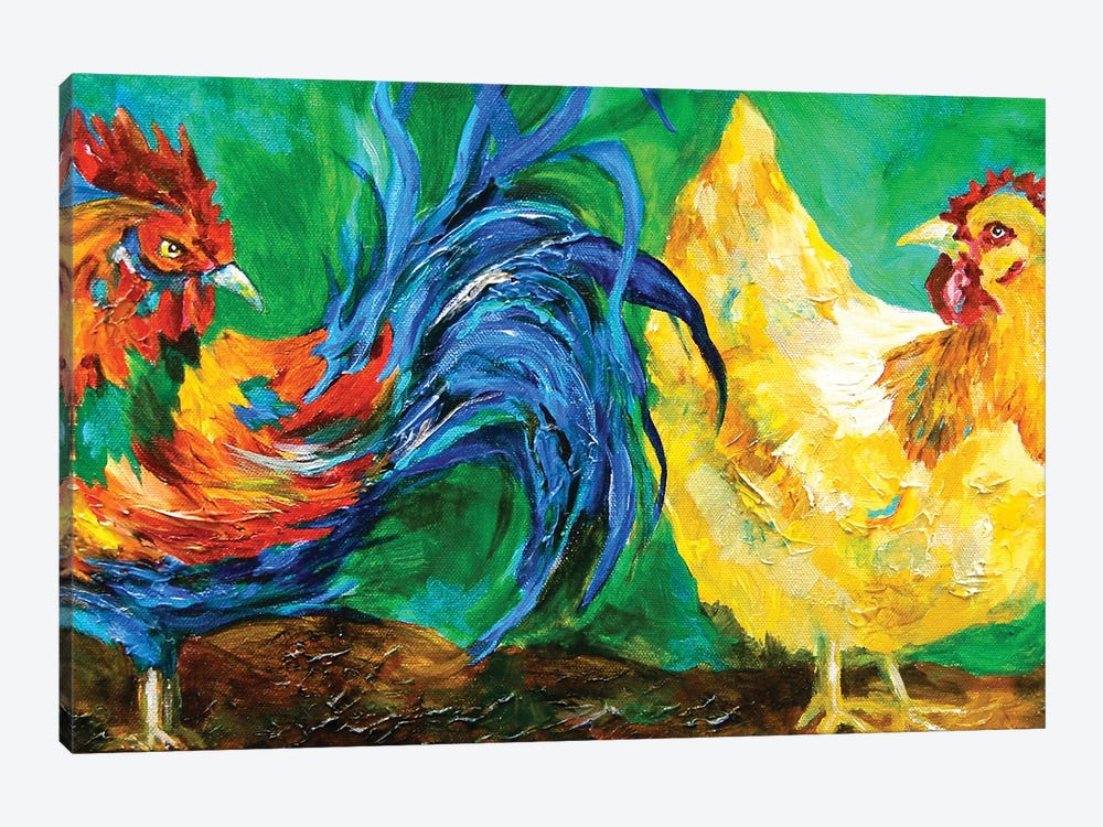 Chickens by Lindsey Dahl 1-piece Canvas Print