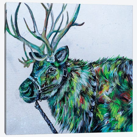 Blitzen 3-Piece Canvas #DAL165} by Lindsey Dahl Art Print