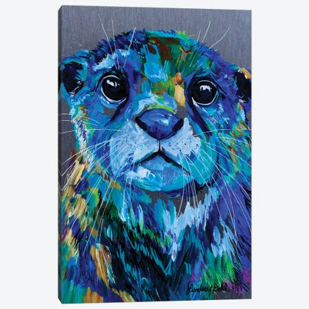 Otter Canvas Print #DAL169} by Lindsey Dahl Canvas Art