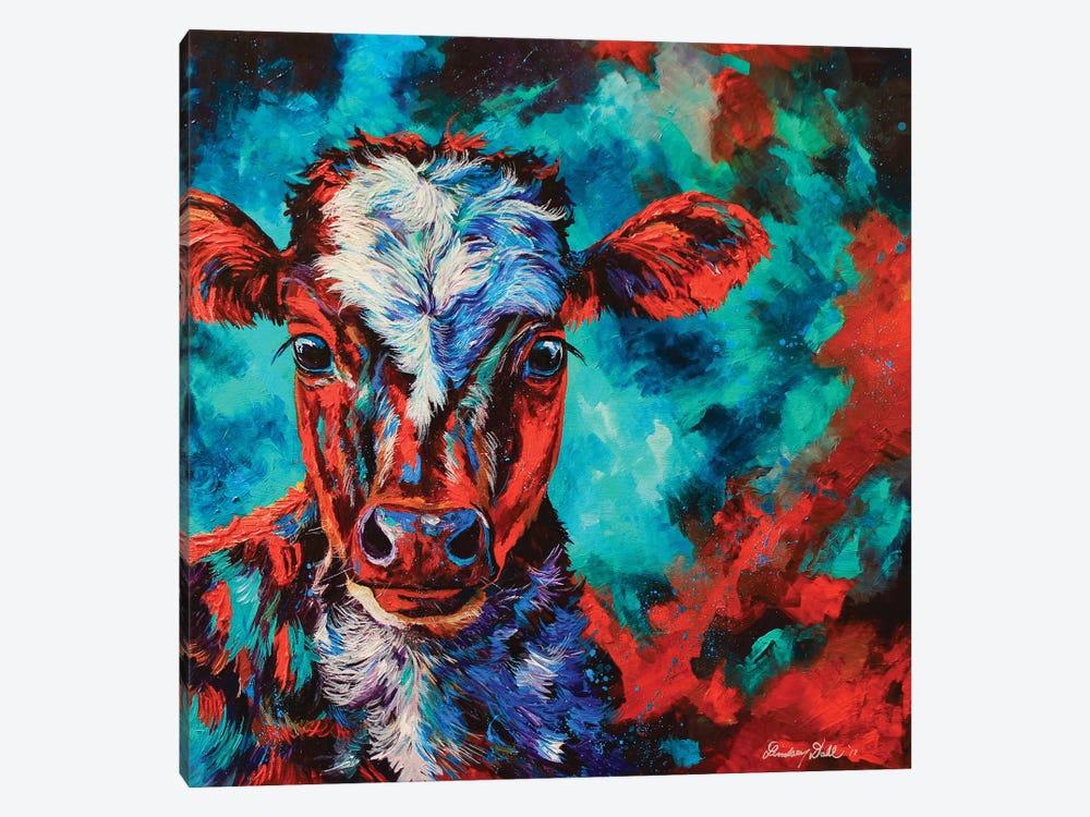 Cosmic Calf by Lindsey Dahl 1-piece Canvas Art Print