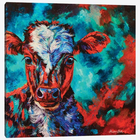 Cosmic Calf Canvas Print #DAL17} by Lindsey Dahl Canvas Wall Art