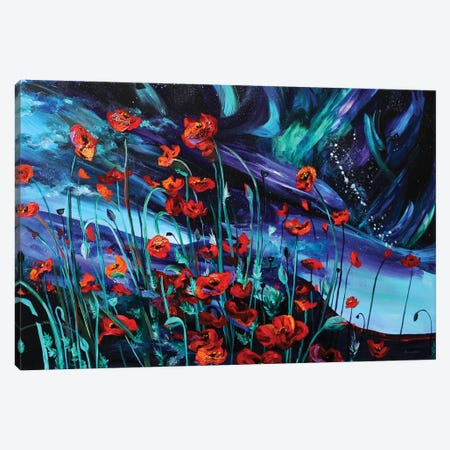 Cosmic Poppies Canvas Print #DAL18} by Lindsey Dahl Canvas Print