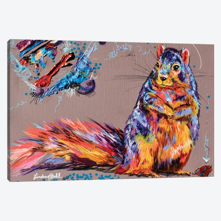 Squirrel Thoughts Canvas Print #DAL192} by Lindsey Dahl Canvas Art Print