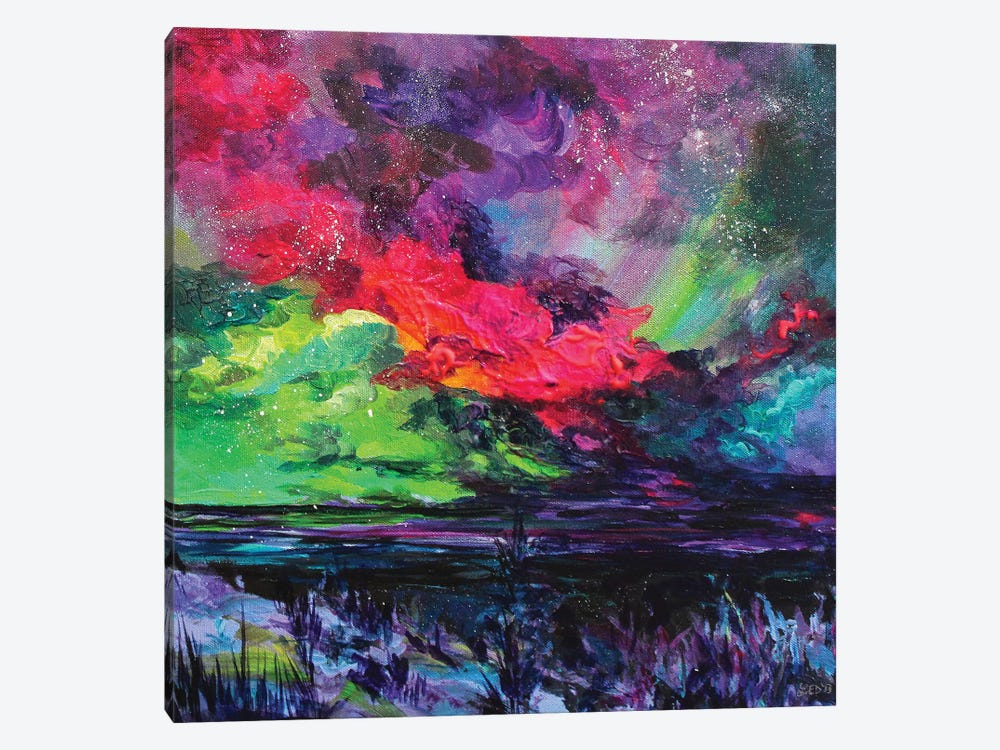 Cosmic Sky by Lindsey Dahl 1-piece Canvas Art Print