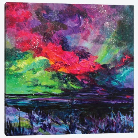 Cosmic Sky 3-Piece Canvas #DAL19} by Lindsey Dahl Art Print