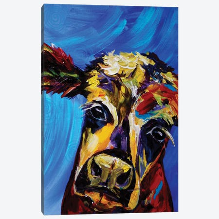 Cow I Canvas Print #DAL20} by Lindsey Dahl Canvas Art