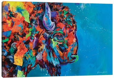 Staredown I Canvas Art Print