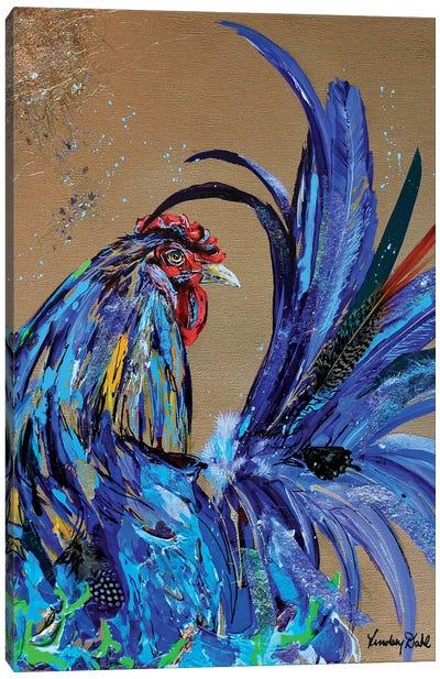 Blue Tail Canvas Art Print