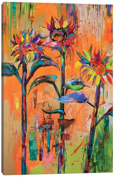 Sunflower Patchwork Canvas Art Print
