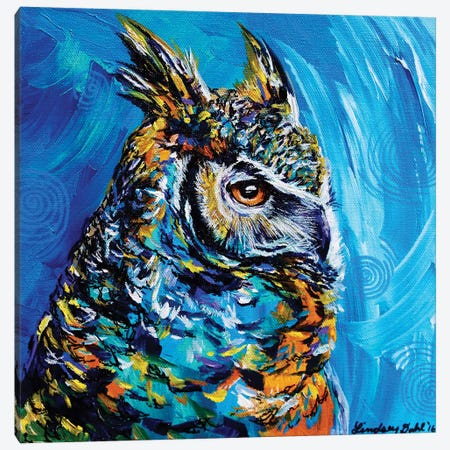 Eagle Owl Canvas Print #DAL23} by Lindsey Dahl Canvas Wall Art