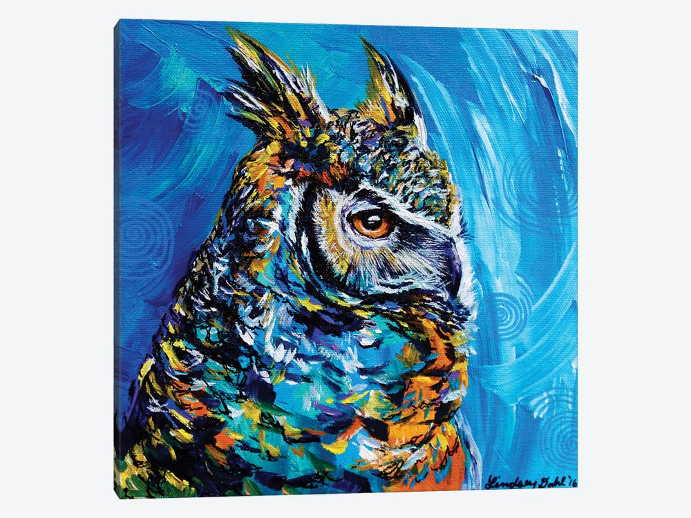 Eagle Owl by Lindsey Dahl 1-piece Canvas Art