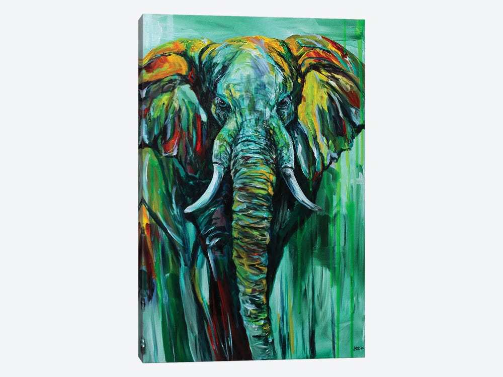 Emerald King by Lindsey Dahl 1-piece Canvas Artwork
