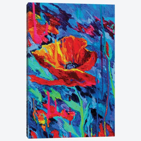 Abstract Poppies Canvas Print #DAL2} by Lindsey Dahl Canvas Print