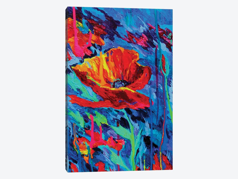 Abstract Poppies by Lindsey Dahl 1-piece Canvas Art