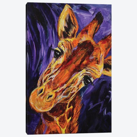 Giraffe Canvas Print #DAL35} by Lindsey Dahl Canvas Artwork