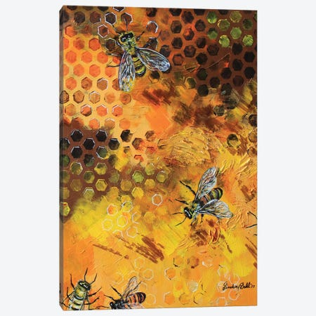 Hive Life Canvas Print #DAL44} by Lindsey Dahl Canvas Print