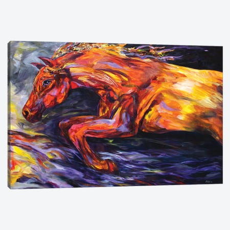 Into The Fire Canvas Print #DAL49} by Lindsey Dahl Canvas Wall Art