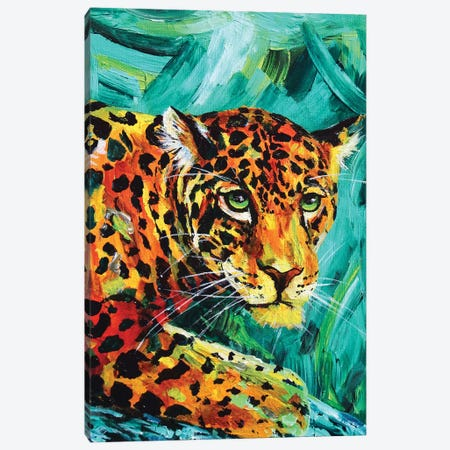 Jaguar Canvas Print #DAL51} by Lindsey Dahl Art Print