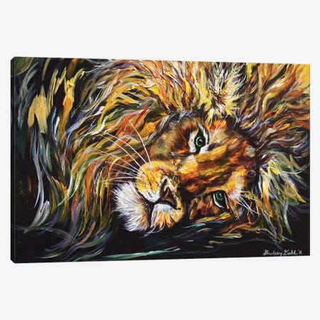 Just Lion Around Canvas Print #DAL52} by Lindsey Dahl Art Print