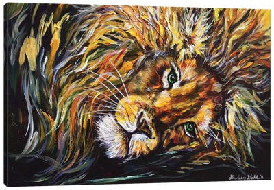 Just Lion Around Canvas Art Print