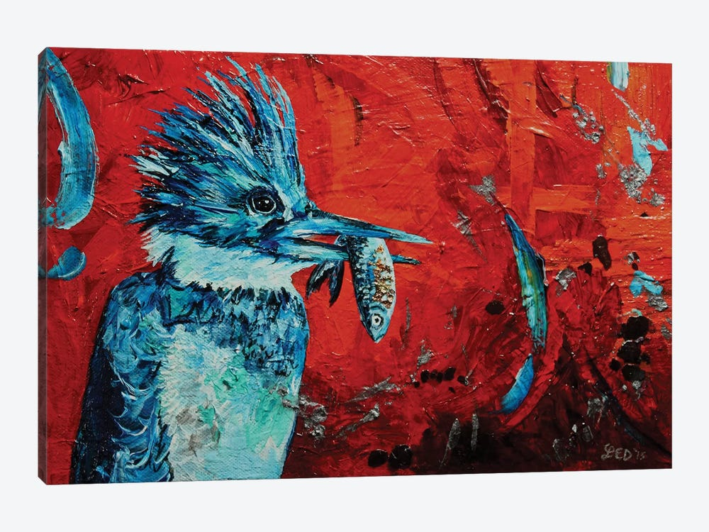 Kingfisher by Lindsey Dahl 1-piece Canvas Art Print