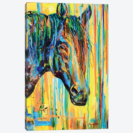 Mare Stare Canvas Print #DAL62} by Lindsey Dahl Canvas Artwork