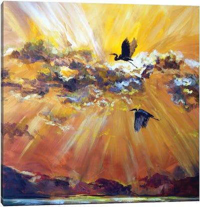 Morning Flight Canvas Art Print