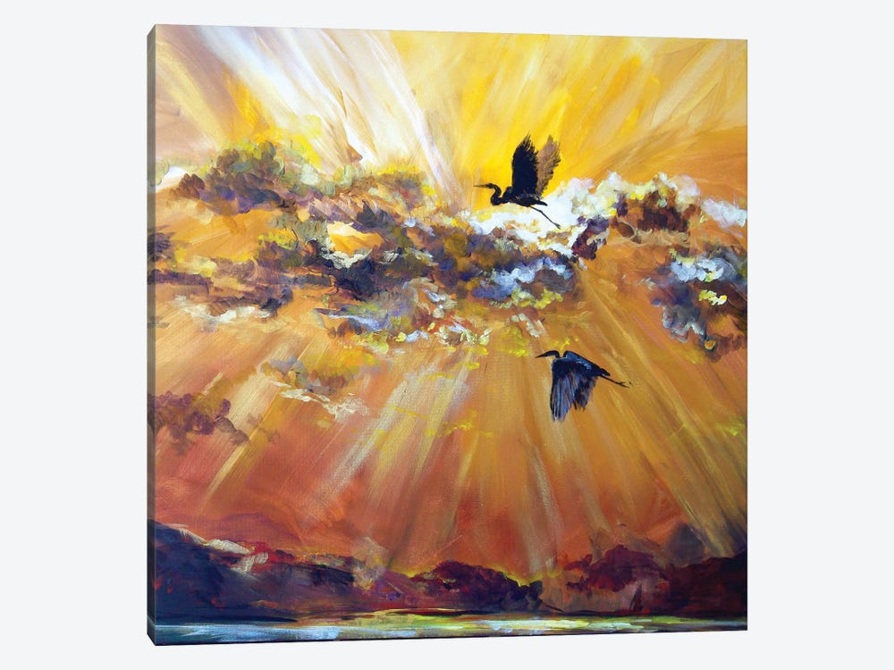 Morning Flight by Lindsey Dahl 1-piece Canvas Artwork