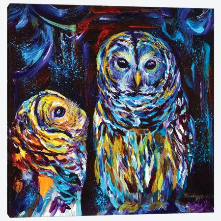Owl You Need Is Love Canvas Print #DAL74} by Lindsey Dahl Canvas Wall Art