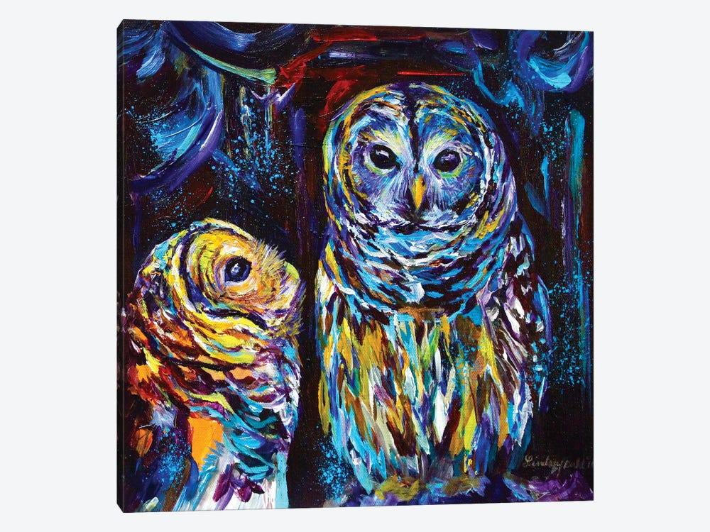 Owl You Need Is Love by Lindsey Dahl 1-piece Canvas Wall Art