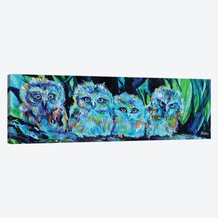 Owlet Blues Canvas Print #DAL75} by Lindsey Dahl Canvas Art