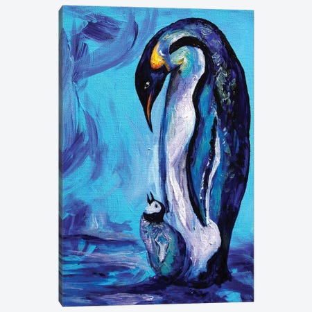 Penguins 3-Piece Canvas #DAL77} by Lindsey Dahl Canvas Art