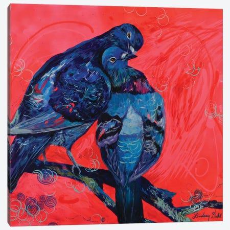 Pigeon Preen Canvas Print #DAL79} by Lindsey Dahl Canvas Print