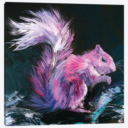 Pink Squirrel Canvas Print #DAL80} by Lindsey Dahl Canvas Art