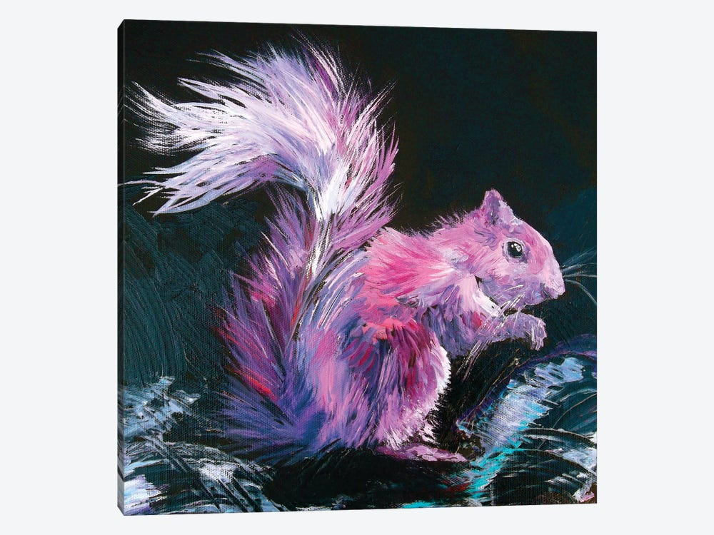 Pink Squirrel by Lindsey Dahl 1-piece Canvas Art Print