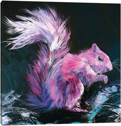 Pink Squirrel Canvas Art Print