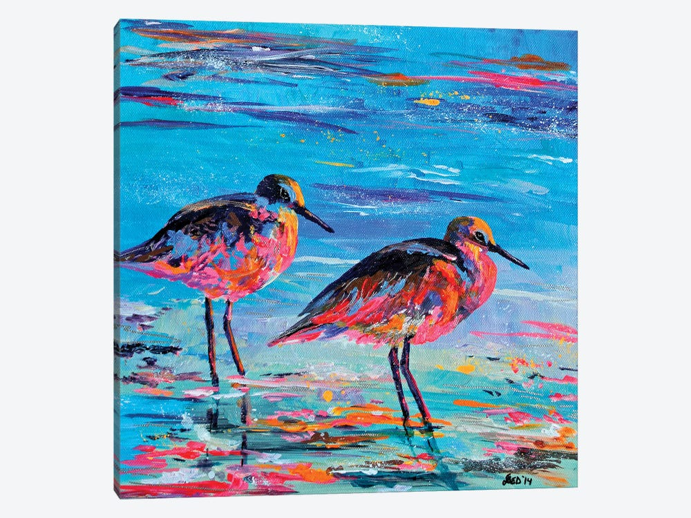 Shore Birds by Lindsey Dahl 1-piece Canvas Art Print