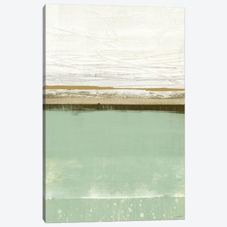 Familiar Feeling Green And Beige Canvas Print #DAM102} by Dan Meneely Canvas Art Print