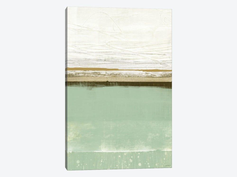 Familiar Feeling Green And Beige by Dan Meneely 1-piece Art Print