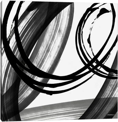 Black and White Pop I Canvas Art Print
