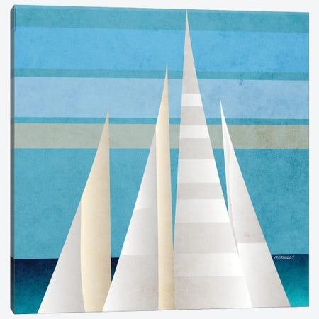Main Sail Harbor I Canvas Print #DAM114} by Dan Meneely Canvas Print