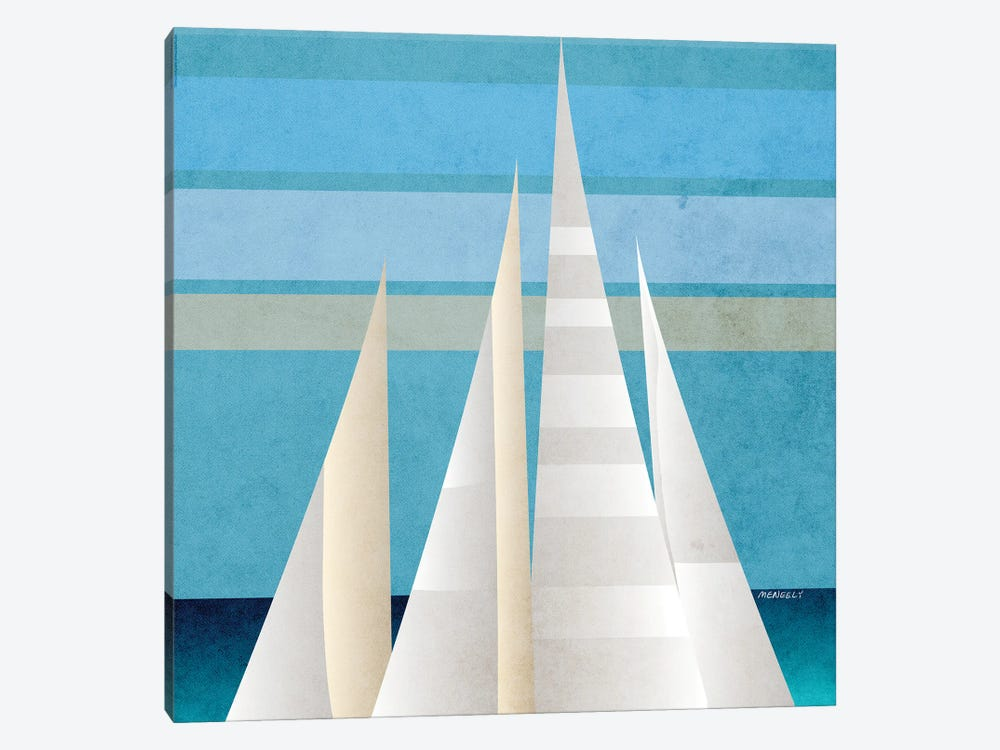 Main Sail Harbor I by Dan Meneely 1-piece Canvas Art