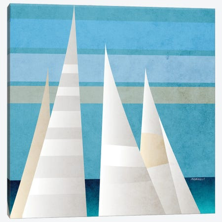 Main Sail Harbor II Canvas Print #DAM115} by Dan Meneely Canvas Art Print