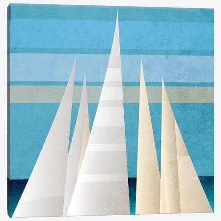 Main Sail Harbor III Canvas Print #DAM116} by Dan Meneely Canvas Art Print
